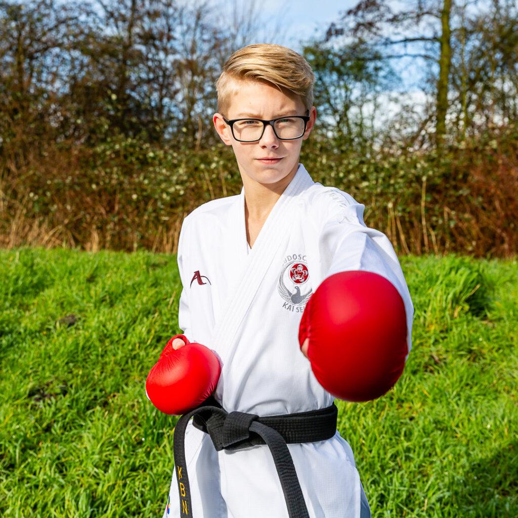 Nationaal karate kampioen U16 Colin Vercammen